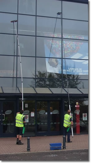 how to clean commercial windows
